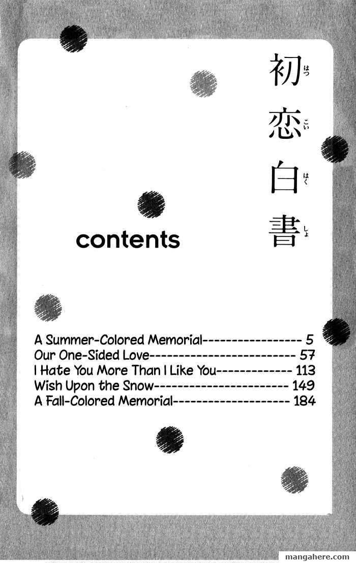Hatsukoi Hakusho Read Hatsukoi Hakusho 1 Read